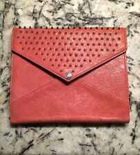 NWOT Rebecca Minkoff Hot Pink Studded Leather iPad Case