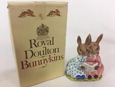 Bunnykins Royal Doulton Rabbit Storytime Figurine DB 9 Orig Box 1974 Mark