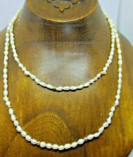 Strand of Seed Pearls w/ 14kt Gold Beads 37 inch length