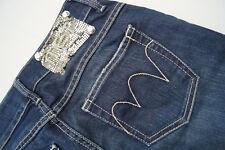 MET in Jeans Damen Hüft Hose stretch Gr.28 W28 stone wash darkblue used look #98