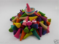 100 pc INCENSE FRANKINCENSE MIXED HERB MYRRH AROMATIC CONES WITH CERAMIC 1 PC