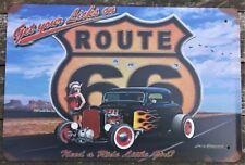 Route 66 metal tin sign vintage cafe pub motorcycle retro plaque garage kitchen