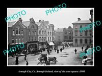 OLD LARGE HISTORIC PHOTO OF ARMAGH IRELAND, VIEW OF THE TOWN SQUARE c1900 2