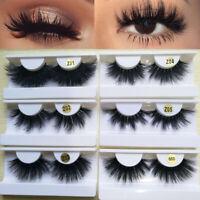 Fluffies Thick Long 100% 3D Mink Hair Eye Lash Extension False Eyelashes