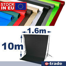 1.6m x 10m Photo Studio Background Backdrop + tube / many colors to choose