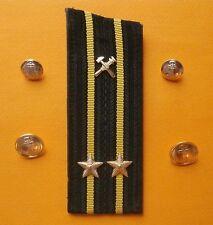 Soviet Russian captain's shoulder strap 2 ranks of technical service Navy USSR