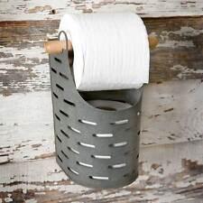 Primitive/Farmhouse/Cottage/Country Olive Bucket Toilet Paper Holder