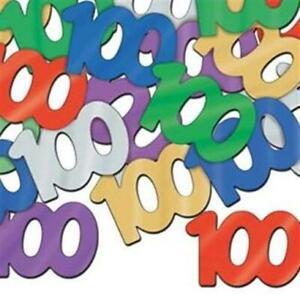 Balloon Blast 100th Birthday Confetti 1/2 oz 100 Foil Table Party Decoration