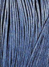 10 collares Algodón encerado 2,5mm NEGRO hilo cera algodon cordon collar AE2-17