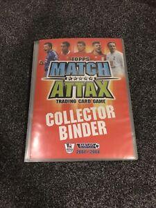 Match Attax 07/08 Full Complete Base Binder + 20 MOTM + trophy card 380 cards