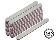 50 x SET Profi 100/180 Nagelfeilen gerade Zebra 50er Set Nails Nail-file Feilen