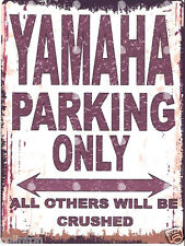 YAMAHA PARKING SIGN RETRO VINTAGE STYLE 6x8in 20x15cm garage workshop