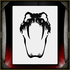Snake Skull 1 -  Airbrush Stencil Template Airsick