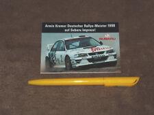 (1998) Armin KREMER, Subaru Impreza - sticker/Aufkleber