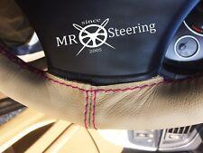 Per Mazda MX5 MK1 89-97 Beige Volante in Pelle Rosa Caldo Copertura doppio STCH
