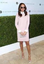 Victoria Beckham For Target Womens Bunny Rabbit Blush Pink Collar Dress Size L