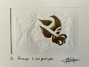 1989 Lalique Society Enrollment Limited Edition embossed reproduction print-New