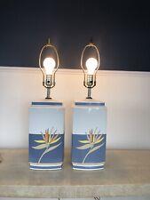 Kimberly McSparran Ceramic Lotus Lamps Signed