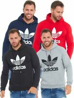 Adidas Mens Hoodie Hooded Top Originals Trefoil Sweatshirt Small Medium Large XL