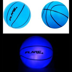 "Light Up Basketball 🏀 Mini 8"" Glow In The Dark Strobe LED Ball Blue NEW"