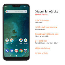 XIAOMI MI A2 LITE 4GB 64GB SCHWARZ OCTA CORE DUAL SIM/CAMERA GLOBAL VERSION