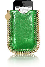 Stella McCartney Metallic Faux Leather and Gold Iphone Sleeve Case NWT
