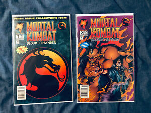 Malibu Comics Mortal Kombat Blood & Thunder #1 and #2 Just In time for new Movie
