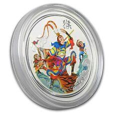 Lunar Jahr des Affe Year of the Monkey King Affen König 5 oz 999 Silber farbig