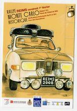 Carte postale Rallye Monté Carlo Historique 2008 départ de Reims Saab V4