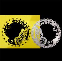 Stanzschablone Schmetterling Kreis Blume Weihnachten StanzeKinder Karte Album