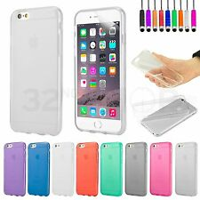 Crystal Gel Case Cover for iPhone 6 Plus (5.5 inch) Screen Protector