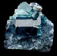 179g Rare Transparent Blue Cube Fluorite Crystal Mineral Specimen/China  Y00780