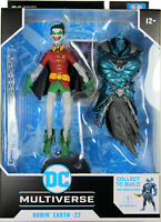 DC Multiverse ~ ROBIN EARTH-22 (CROW)(CLOSED MOUTH VARIANT) w/MERCILESS BAF