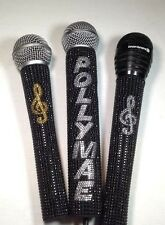 Microphone Sleeve, Hardwire 2 Color, Rhinestone Bling Customized, By Blingcons
