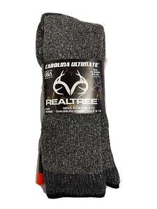 REALTREE Carolina Ultimate Mens hunting winter sock 2 pair size 9-13 Real Tree