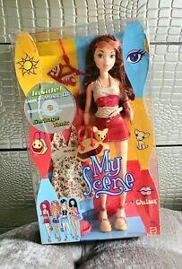 My Scene Chelsea 2002 Mattel Girl Barbie Doll Red My City My Style Bikini CD