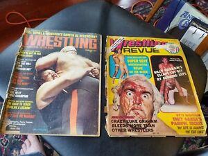 2 Vintage Wrestling Magazines Revue October 1975 Sports Stars February 1975
