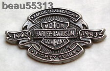 """OLD STOCK"" LICENSED HARLEY DAVIDSON 1903-1983 80th ANNIVERSARY 80 YEARS PIN"