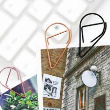 50X Bunte Metallklammern Silbrig Lesezeichen Büro Shool Stationary Geschenk