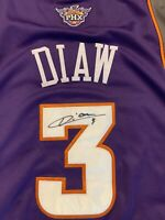 Men's Adidas Phoenix Suns Boris Diaw Authentic Jersey Sz 48 Auto signed RARE