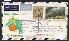 62415) LH  FF Amsterdam - Los Angeles USA 2.4.69, SoU ab Jugoslawien