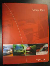 Media Kit Toyota Geneva Motorshow 2002 (Engels)