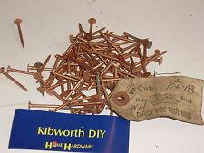 "200g SOLID COPPER ROUND HEAD NAILS  1 1/4"" 32mm BOAT SLATE TREE STUMP KILLER"