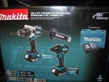 Makita XT257TB 18V LXT Brushless 2-Pc Combo Kit 5.0Ah 2 Batteries Charger Li-Ion
