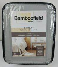 Bamboofield Split King Sheets 7 Pcs Set Prestige Collection 2000 Series Silver