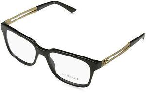 Versace Men's Black Eyeglasses  0VE3218 GB1 53mm