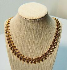 "Toned Necklace 19.5"" Vintage Avon Yellow Gold"