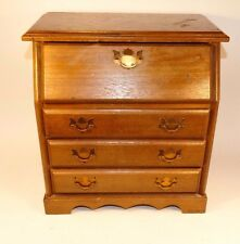 17223 Vintage Multi-Drawer Drop Front Wooden Jewelry Box Chest Furniture Style