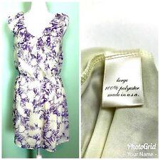 Marina Bay Womens Large Dress Floral Breezy Purple Ruffles Lined Sundress Vneck