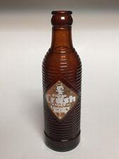 Vintage Orange Crush Company Bottle Beehive Amber Ribbed Duraglas Soda Pop